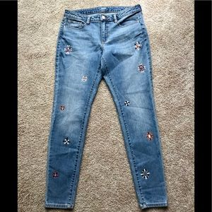 a.n.a. Embellished Skinny Jeans Size 10